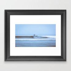 Malibu Blur Framed Art Print