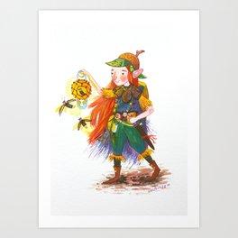 Adventurer Nettlehoney Art Print