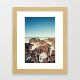 Salt on the Rocks Framed Art Print