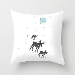 Winter Evening Throw Pillow