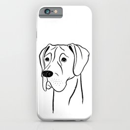 Great Dane (Black and White) iPhone Case