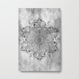 Mandala - Ashes Metal Print