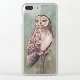 Ural Owl Clear iPhone Case