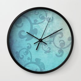 Turquise vintage design Wall Clock