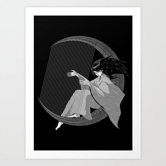 Crescent Melody Art Print