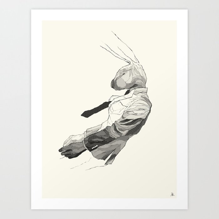 Falling Mr. Lapin Art Print