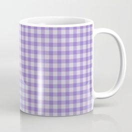 Check pattern in lilac, lilac and violet Coffee Mug