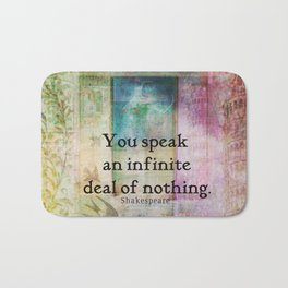 Shakespeare insult Quote from Merchant of Venice Bath Mat