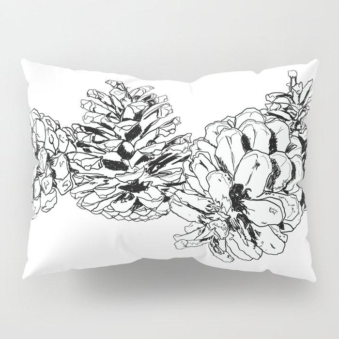 White Pine Cones Pillow Sham