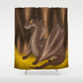 Dragon's hoard. Shower Curtain