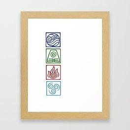 The 4 elements Framed Art Print