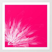 Art Print featuring coral feathers by Sara Chapin