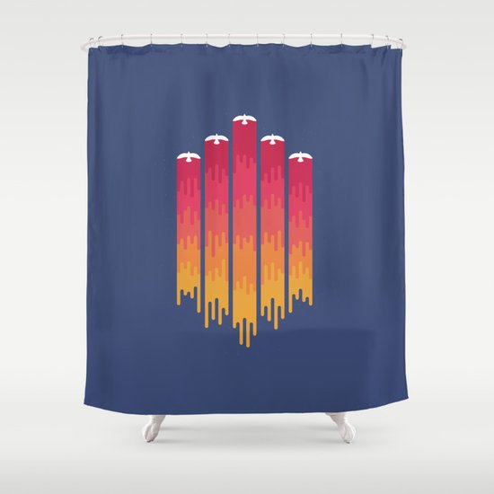 Break the Night with Color Shower Curtain