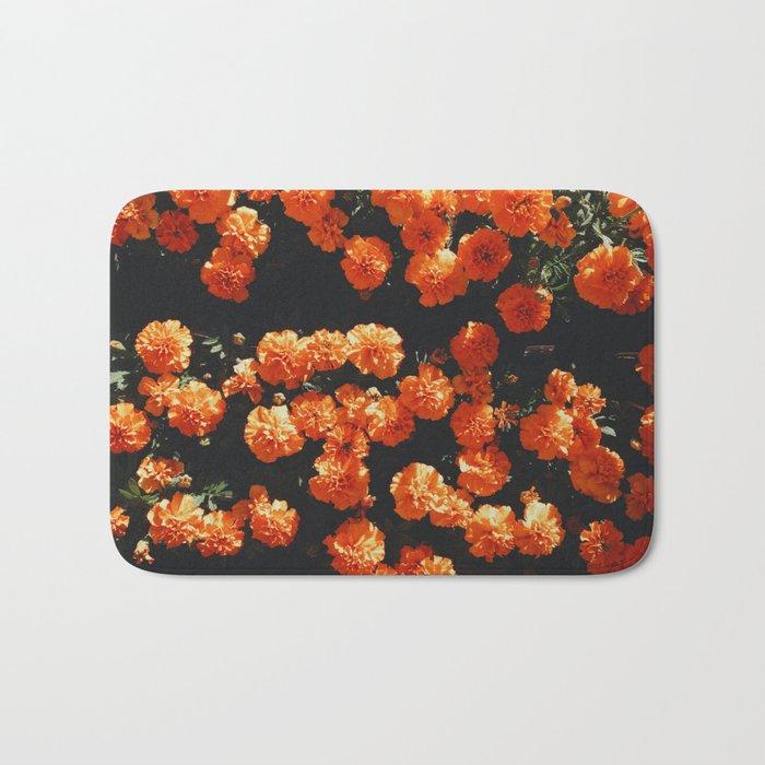Orange Bloom Bath Mat