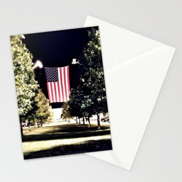 patriotism at the theater Stationery Cards