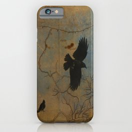 A Vintage Flight Of The Crows iPhone Case