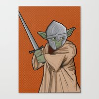 medieval Canvas Prints featuring Yoda medieval  by  Steve Wade ( Swade)