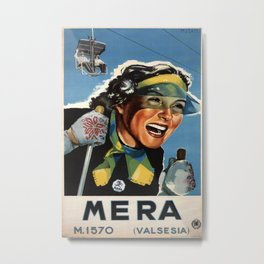 Mera Valsesia Vintage Travel Poster Metal Print