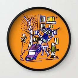 Rainy Draw life drawing  Wall Clock