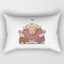 Meditating tibetan yak Rectangular Pillow