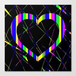 Heart Scratch Art Canvas Print