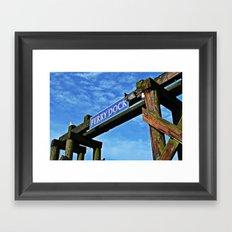 ferry dock Framed Art Print
