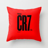 portugal Throw Pillows featuring Portugal by Skiller Moves