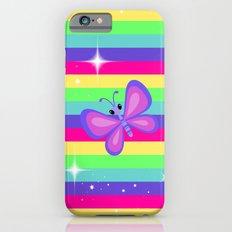 Rainbow Butterflies & Stripes Slim Case iPhone 6s