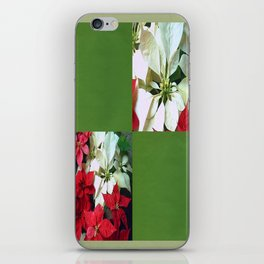 Mixed color Poinsettias 1 Blank Q5F0 iPhone Skin
