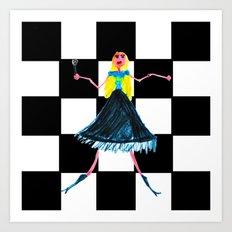 Pop Star Singer Art Print