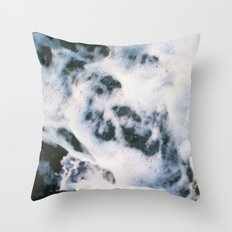 Standing on the shoreline Throw Pillow