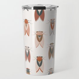 Cicadas pattern in Nature organic colors Travel Mug
