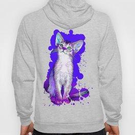 abyssinian cat kitten vector art Hoody