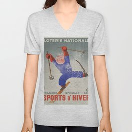Vintage poster - Sports D'Hiver Unisex V-Neck