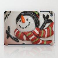globe iPad Cases featuring Frosty Globe by IowaShots