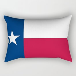 Texas State Flag, Authentic Version Rectangular Pillow