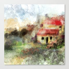 Old Spanish Village Canvas Print