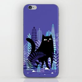 The Ferns (Black Cat Version) iPhone Skin