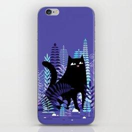The Ferns (Black Cat Version) iPhone Skin
