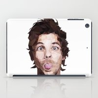 louis tomlinson iPad Cases featuring Louis Tomlinson - One Direction by jrrrdan