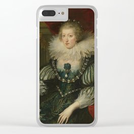 Anne of Austria (1601-1666). Wife of Louis XIII, king of France, workshop of Peter Paul Rubens, 1625 Clear iPhone Case