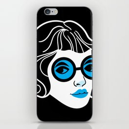 Lookout! Blue Version iPhone Skin
