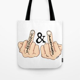 THOUGHTS AND PRAYERS Tote Bag