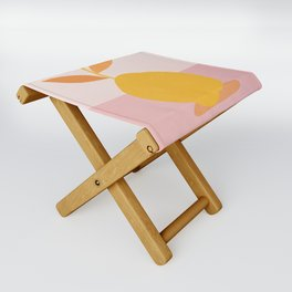 Abstraction_PEAR_PAINTING Folding Stool
