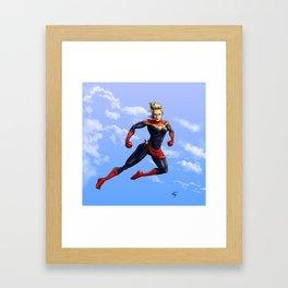 Captain Carol Framed Art Print