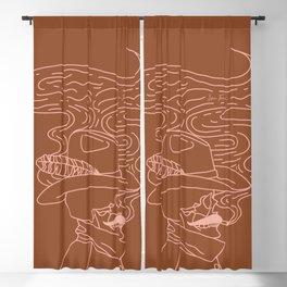 Love or Die Tryin' - Cowhand - Rust & Peach Blackout Curtain