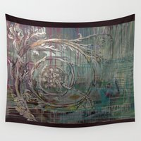 baroque Wall Tapestries featuring Baroque Scroll by Azure Cricket