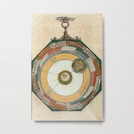 Peter Apian - Astronomicum Caesareum 1540 - Plate 12 The Course of Mercury Metal Print