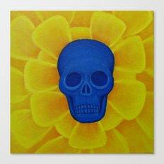 Blue Skull Canvas Print