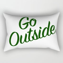 Go Outside (The Moutains are Calling) Rectangular Pillow